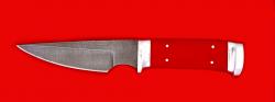 "Нож ""Атаман"", клинок дамасская сталь, рукоять G10"