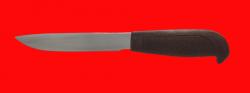 Финка кустарная 115, клинок сталь 95Х18, рукоять резинопластик (цвет коричневый)