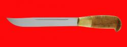 Финка Рысь малая, клинок сталь У8, рукоять карельская береза