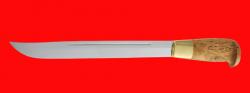 Финка Рысь, клинок сталь У8, рукоять карельская береза