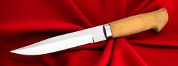 """Нож """"Финка с сучком"""", клинок кованый сталь 95Х18, рукоять кусия"""