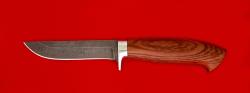 """Охотничий нож """"Финский"""", клинок дамасская сталь, рукоять бубинга"""