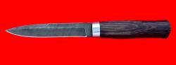 """Нож """"Форель"""", клинок дамасская сталь сталь, рукоять венге"""