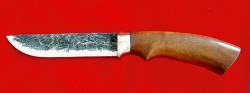 """Охотничий нож """"Грибник"""", ручная ковка, клинок сталь 9ХС, рукоять макоре"""