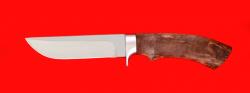 """Охотничий нож """"Грибник-2"""", клинок сталь ELMAX, рукоять стабилизированная карельская берёза (цвет коричневый)"""