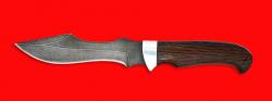 """Нож """"Кайман"""", клинок дамасская сталь, рукоять венге"""