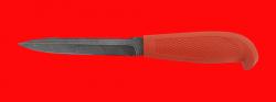 """Нож """"Кижуч-2"""", клинок дамасская сталь, рукоять пластмасса (цвет оранжевый)"""