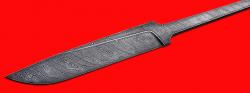 """Клинок для ножа """"Карачаевский"""" (""""Бычак""""), дамасская сталь"""