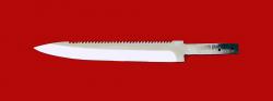 """Клинок для ножа """"Егерь с насечкой"""", сталь 95Х18"""