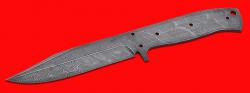 """Клинок для ножа """"Гюрза"""", цельнометаллический, клинок дамасская сталь"""