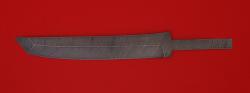 """Клинок для ножа """"Самурай большой"""", дамасская сталь"""