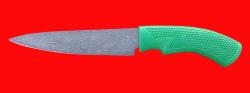 """Нож """"Кухонный средний-1"""", клинок сталь Х12МФ, рукоять пластмасса (цвет зелёный)"""