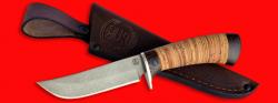 """Охотничий нож """"Куница-2"""", клинок сталь D2, рукоять береста"""