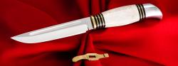 """Разборный нож """"Финка НКВД"""", клинок кованая сталь 95Х18, рукоять лосиный рог"""