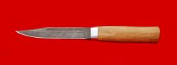 """Нож """"Разведчик-2"""", клинок дамасская сталь, рукоять дуб"""