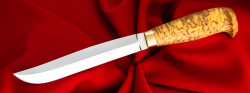 Финка Ромб-3, клинок сталь У8, рукоять карельская берёза