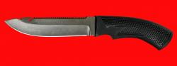 """Нож """"Рыбацкий-5"""", клинок сталь Х12МФ, рукоять резинопластик (цвет черный)"""