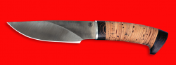 """Охотничий нож """"Рысь"""", клинок порошковая сталь Vanadis 10, рукоять береста"""
