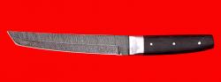 """Нож """"Самурай большой"""", цельнометаллический, клинок дамасская сталь, рукоять венге"""