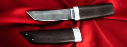 """Нож """"Самурай малый"""", клинок дамасская сталь, рукоять венге, деревянный чехол"""