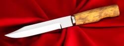 """Нож """"Сапер"""" финка, клинок кованый сталь У8, рукоять карельская берёза"""