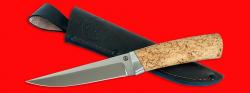 """Охотничий нож """"Секач"""", клинок порошковая сталь ELMAX, рукоять карельская берёза"""