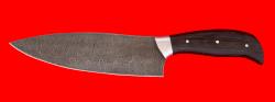 """Нож """"Шинковочный большой"""", цельнометаллический, клинок дамасская сталь, рукоять венге"""