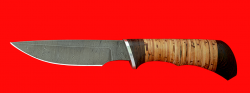 """Нож """"Шторм"""", клинок дамасская сталь, рукоять береста"""