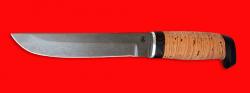 """Охотничий нож """"Скандинавский большой"""", клинок сталь D2, рукоять береста"""