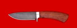 """Охотничий нож """"Соболь-2"""", клинок дамасская сталь, рукоять бубинга"""