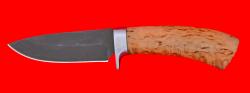 """Охотничий нож """"Соболь-2"""", клинок сталь Х12МФ, рукоять карельская берёза"""