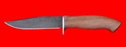 """Нож """"Сокол"""", клинок дамасская сталь, рукоять орех"""