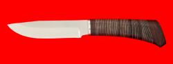 """Охотничий нож """"Универсальный"""", клинок сталь 65Х13, рукоять кожа"""