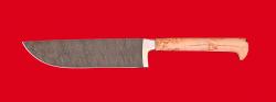 """Нож """"Узбекский"""", цельнометаллический, клинок дамасская сталь, рукоять карельская береза"""