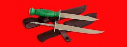 """Нож со сменными клинками на базе НР-43 """"Вишня"""", комплектация """"Рыбак-Турист №4"""", рукоять пластмасса"""