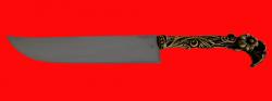 """Авторский нож """"Восточный"""", клинок сталь 95Х18, рукоять латунь"""