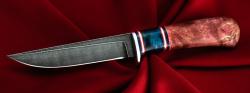 "Нож ""Засапожный №1"", клинок дамасская сталь, рукоять наборная"