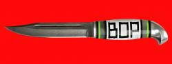 Жиганская финка ВОР 002, клинок кованая сталь Х12МФ, рукоять наборный пластик