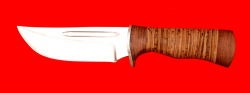"Охотничий нож ""Зубр-2"", клинок сталь 65Х13, рукоять береста"